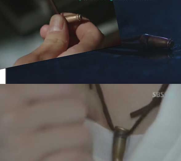 City Hunter Lee MIN HO Bullet Necklace Korean Drama Kdrama