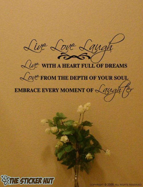 Live Love Laugh Quotes Wall Stickers Decals Words Letters 446