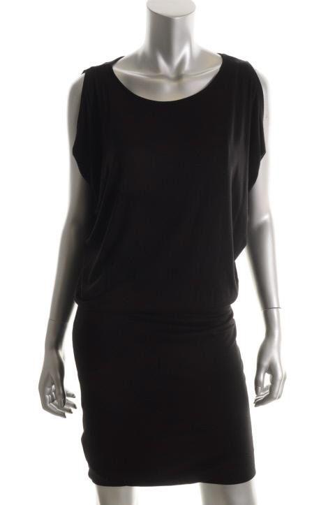 Michael Kors New Black Stretch Sleeveless Blouson Clubwear Dress M