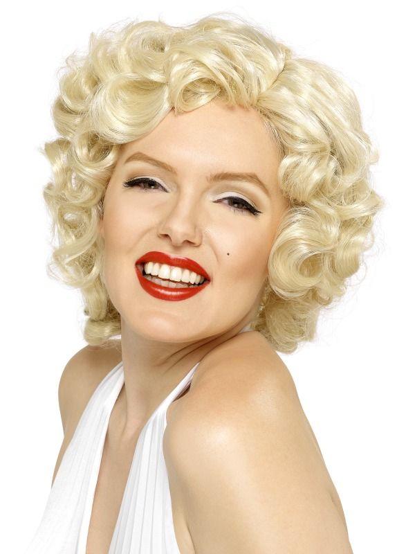 Womens Blonde Marilyn Monroe Wig Fancy Dress Costume