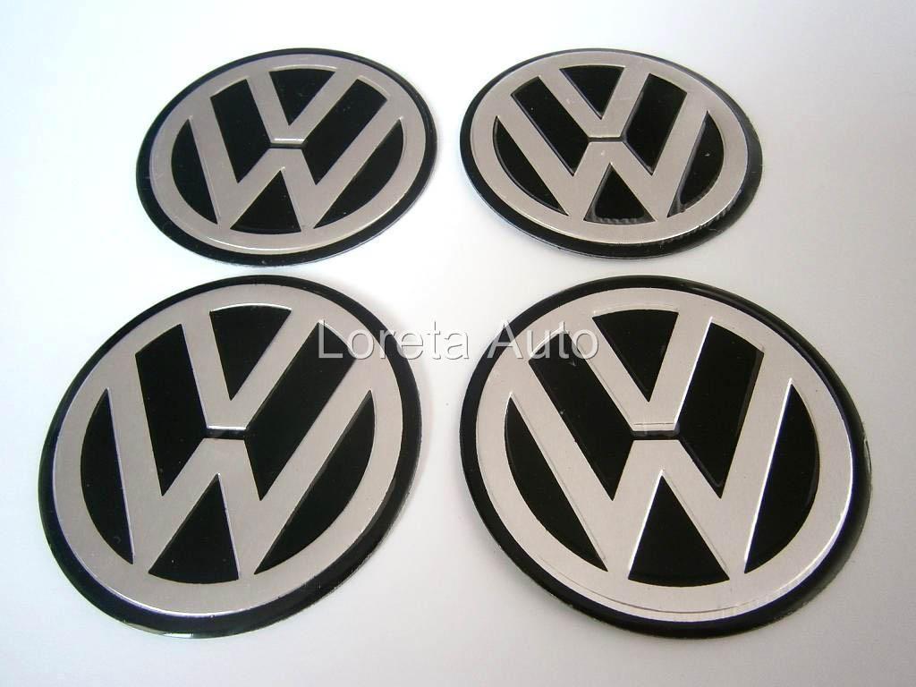 Caps 4pcs 60mm Stickers Decal Badges Rims Polo Golf Passat