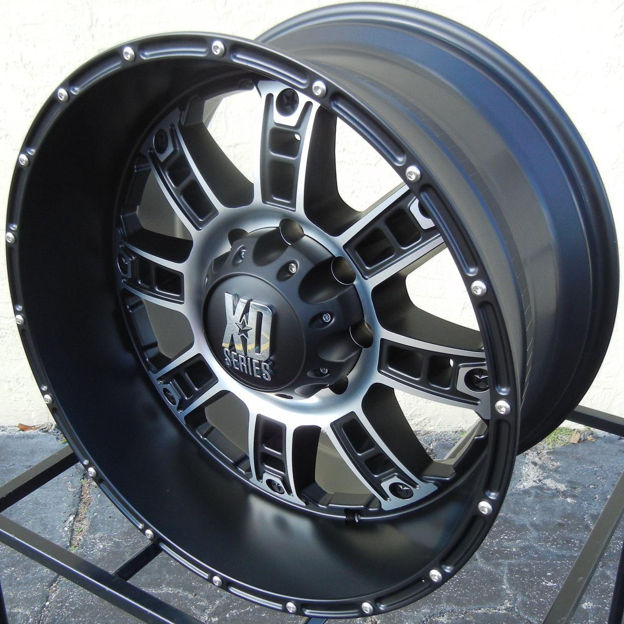 20 New Black XD Riot Wheels Rims Chevy Silverado GMC Dodge 2500 3500