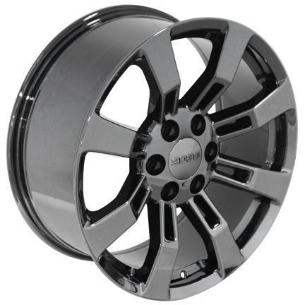 22 Black Chrome Rims Fit Cadillac Escalade Wheel Set