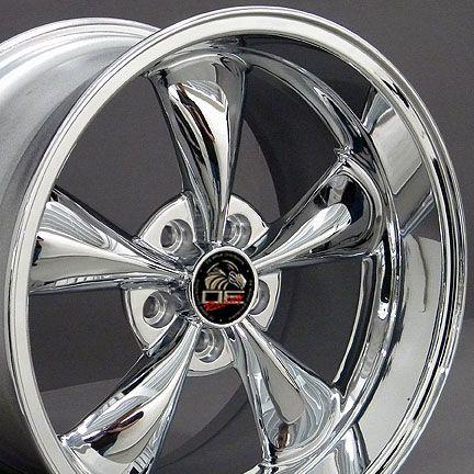 18 9 10 Chrome Bullitt Bullet Style Wheels Rims Fit Mustang® GT 94