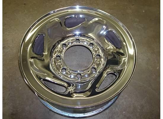 RAM 2500 3500 CHROME Steel WHEEL Rim OEM 94 99 SLT Factory VAN 8 lug