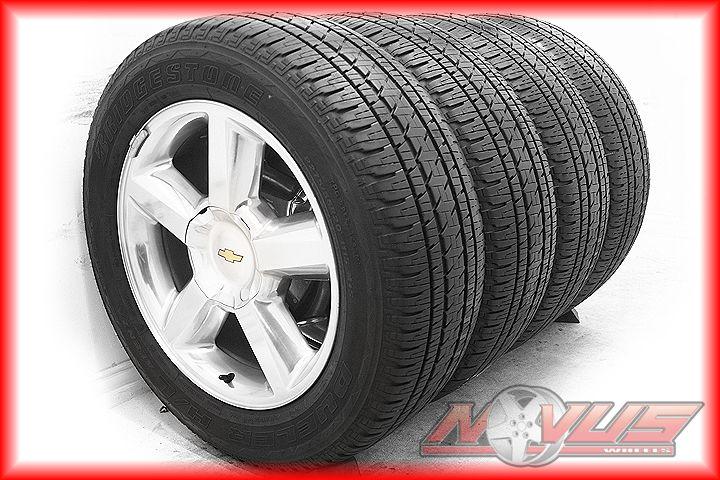 20 Chevy Tahoe LTZ Silverado Polished Wheels Tires Sensors Caps Yukon