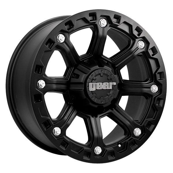 16 inch Black Wheel Gear Alloy Blackjack Chevy GMC Dodge 2500 3500