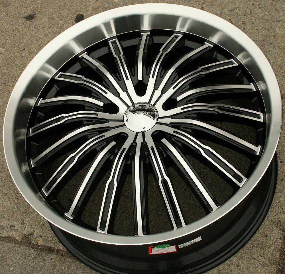 Panther Spyder 915 22 Black Rims Wheels Chrysler Aspen Dakota 22 x 9