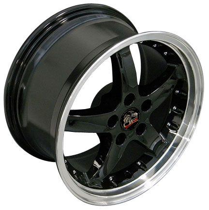 17 Black Cobra Wheels Rims Fit Mustang®
