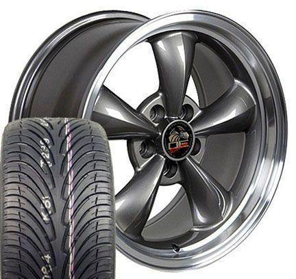 Anthracite Bullitt Wheels ZR Tires Bullet Rims Fit Mustang® GT 94 04