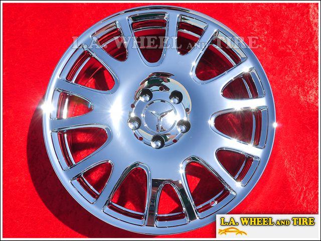 of 4 New 18 Mercedes Benz SLK280 OEM Chrome Factory Wheels Rims 65490