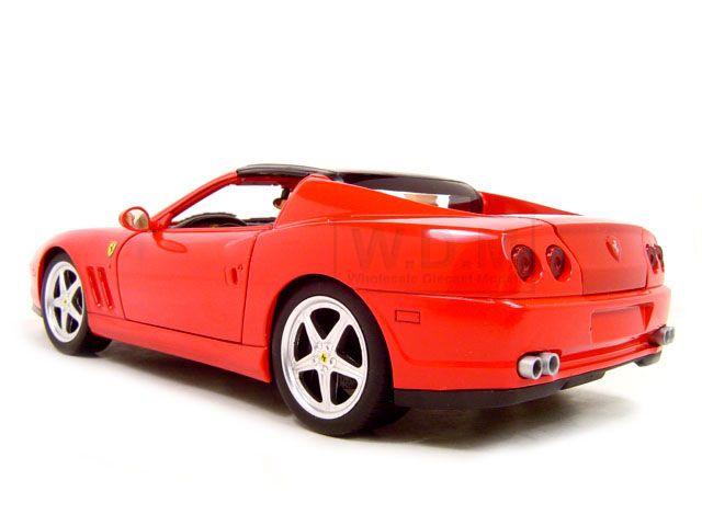 Ferrari Super America Red 1 18 Hot Wheels Model