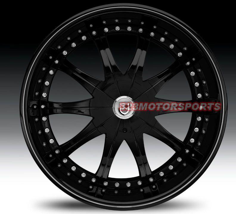 20 Lexani CS2 Full Black Rims Wheels Toyota Audi