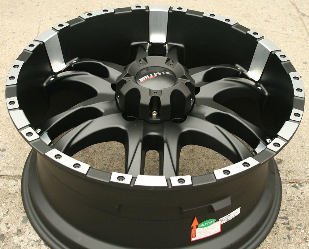 Ballistic Off Road Wizard 810 20 Black Rims Wheels Lexus LX470 20 x 9