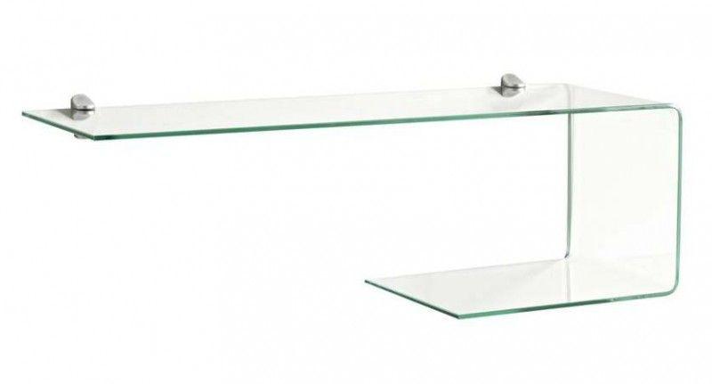 glasregal wandregal regal aus glas in u form. Black Bedroom Furniture Sets. Home Design Ideas