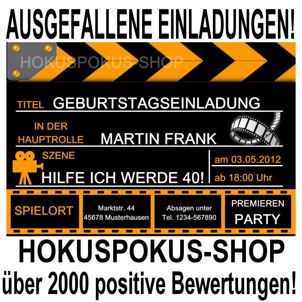 40 einladungskarten 18 30 40 50 60 geburtstag einladungen Car Pictures