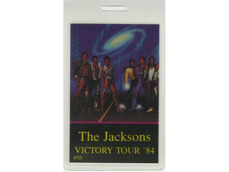 MICHAEL JACKSON  BACKSTAGE PASS VICTORY TOUR 84 PROMOTER LAM.  THE