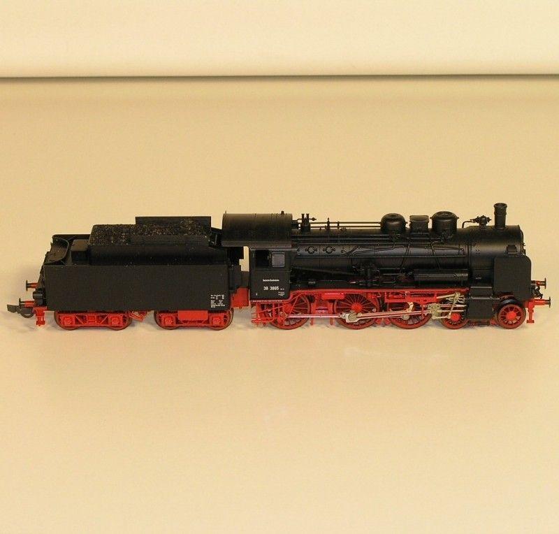 3w11  Fleischmann 4162/93 Dampflok BR 38 mit Verpackung.
