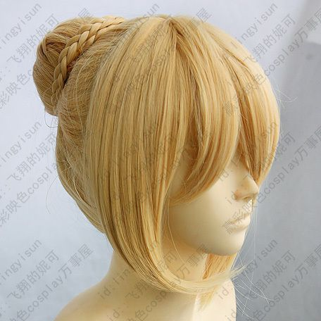 172 Fate Stay Night Saber Cosplay Wig Gold color