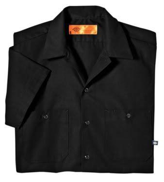 Dickies Mens Short Sleeve Work Shirt Classic BLACK NEW