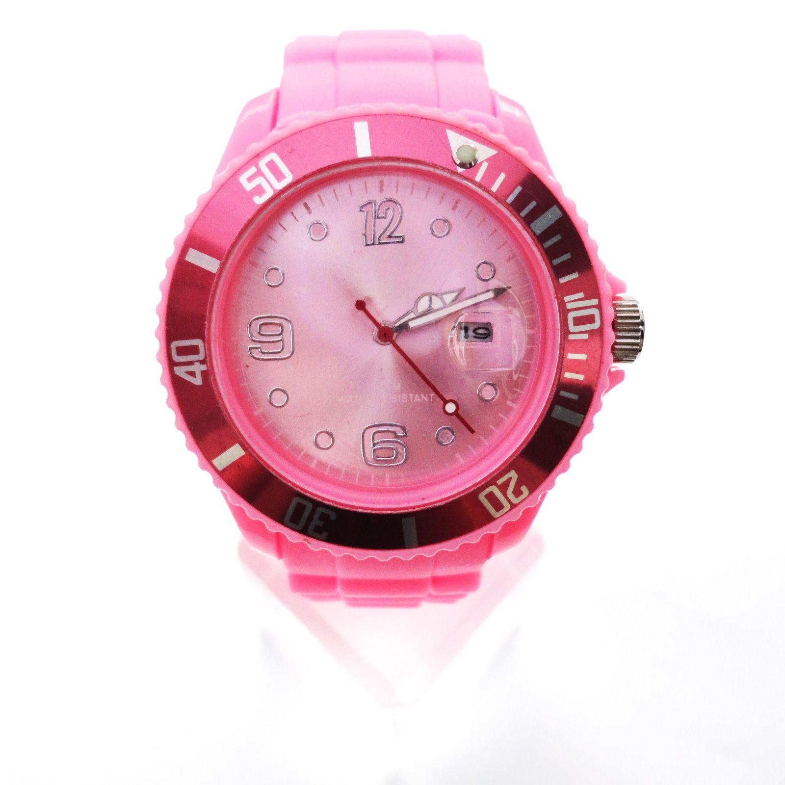 New 13 colors Silicone Rubber Quartz Wrist Watch Unisex With Calendar