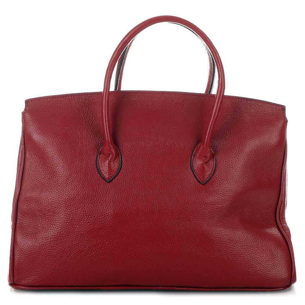 ROUVEN Bordeaux Rot & Gold GRACE ICONE 40 Tote Bag Leder Tasche