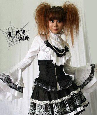 Fashion Visual Punk Kera Lolita Gothic T shirt blouse