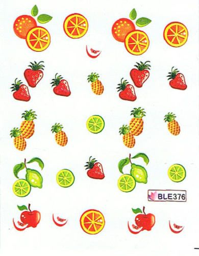 Nail Art Sticker Tattoo One Stroke BLE 376 Obst Früchte