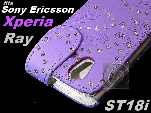 LEATHER FLIP CASE COVER POUCH for SONY ERICSSON XPERIA RAY ST18i