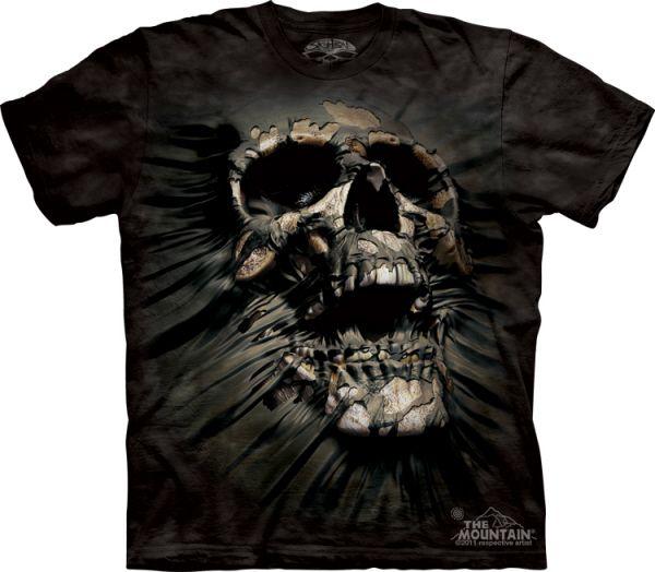 THE MOUNTAIN T Shirt BREAKTROUGH SKULL M   3XL