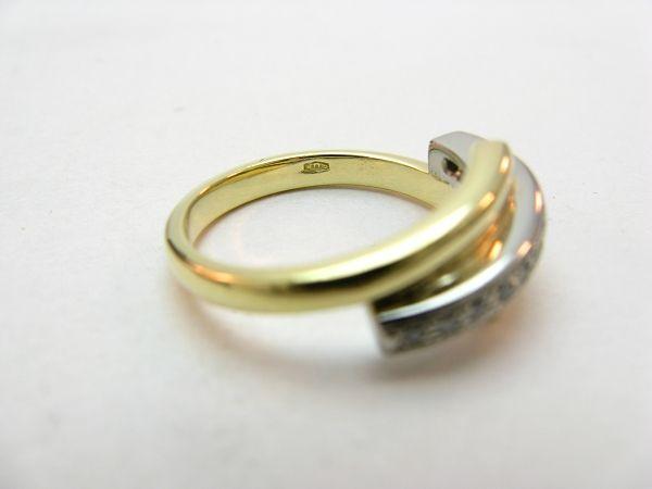 R668 585er 14kt Gelbgold Gold Ring mit 12 Brillanten auf einer