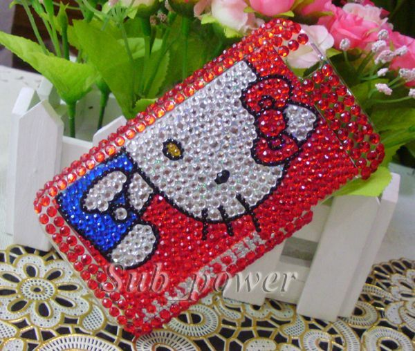 Hello Kitty Bling Crystal Back Case Cover For LG Optimus Sol E730 H