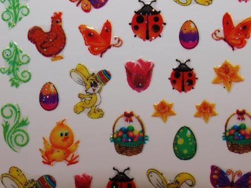 Nail Art Sticker Ostern Osterei Frühling Kücken Blumen