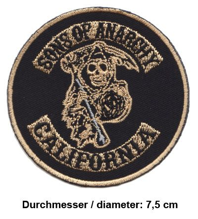 SONS OF ANARCHY Aufnäher Patches Motorrad Biker MC Chopper Rocker