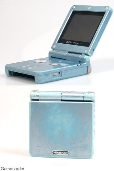 Nintendo Game Boy Advance SP ICE blue / blau Handheld Spielkonsole