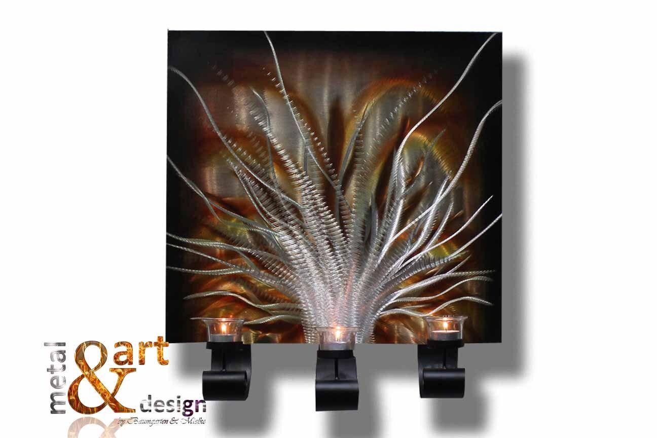 Vk 299 00 Metal Art Kerzenstander Wand Kerzenhalter Kupfer Braun Gold