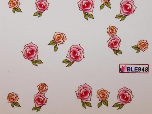 Nail Art Sticker Tattoo One Stroke BLE 948 Rosen