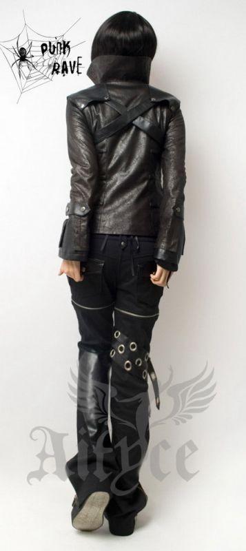 Punk Rave Visual Kei Lolita Gothic Rocker Jacke schwarz Kunstleder