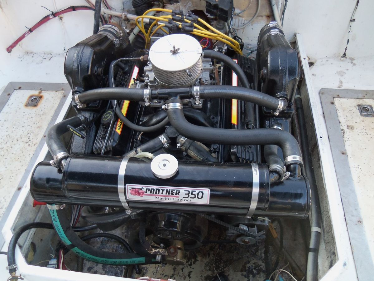 V8 5 7L 350 PANTHER GM CHEVY 4 BARREL MARINE ENGINE OMC MERCRUISER